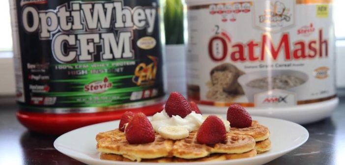 Proteinové wafle z OatMash a OptiWhey CFM