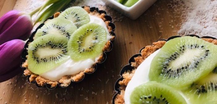 Recept na kokosové tartaletky s kiwi